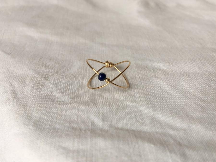 Image of Bague Stella Lapis Lazuli