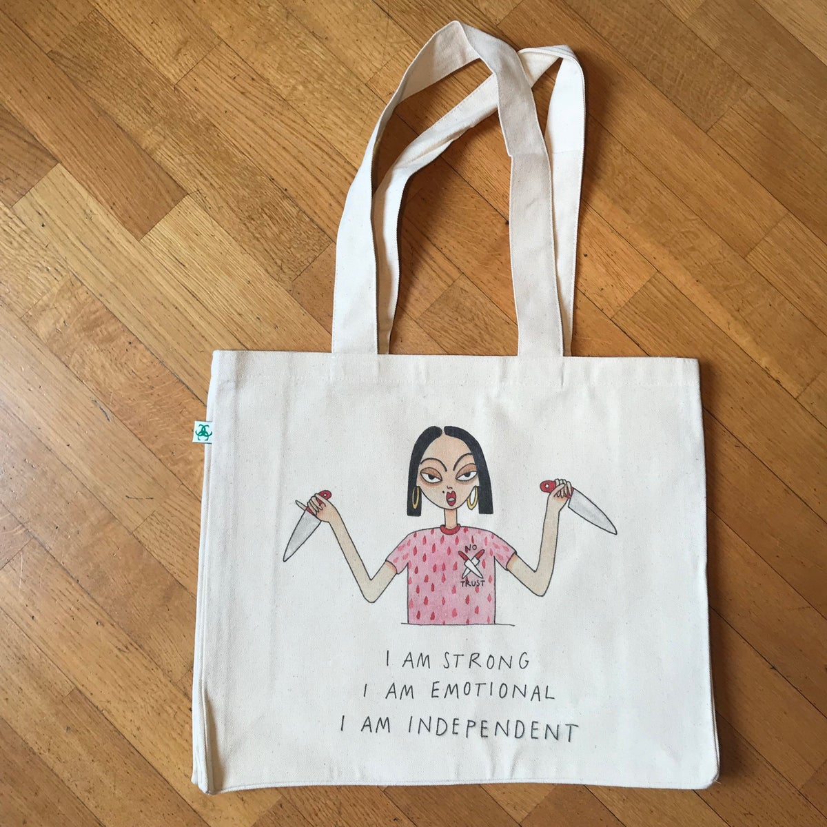 Image of I AM EMOTIONAL 2018 CANVAS BAG FOR LIFE