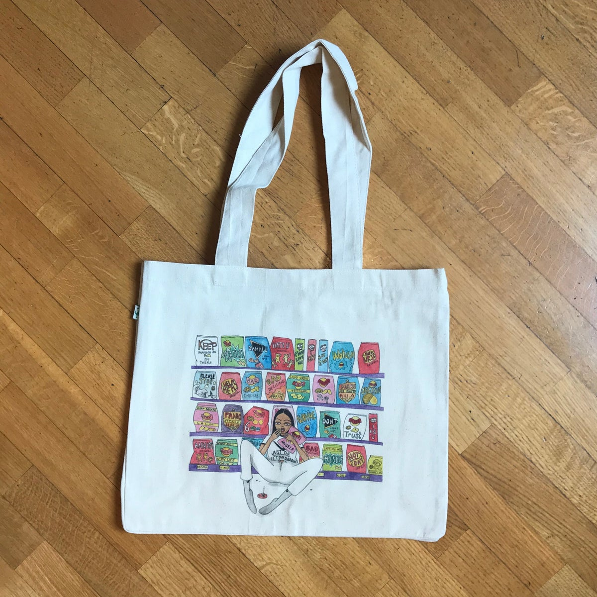 Image of MY TRUE SELF CANVAS BAG FOR LIFE