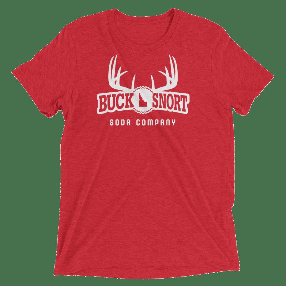 Image of BuckSnort Unisex Red Triblend Tee