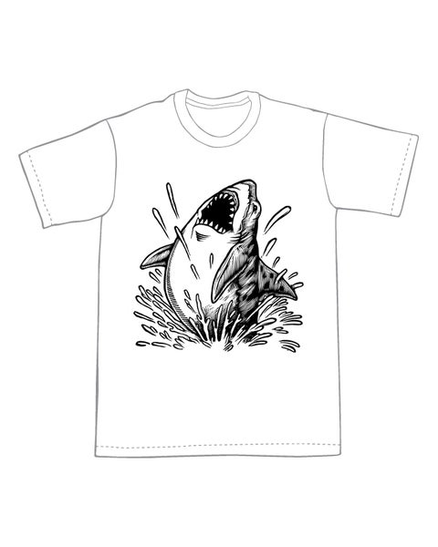 Image of Jumping Shark T-shirt **FREE SHIPPING**