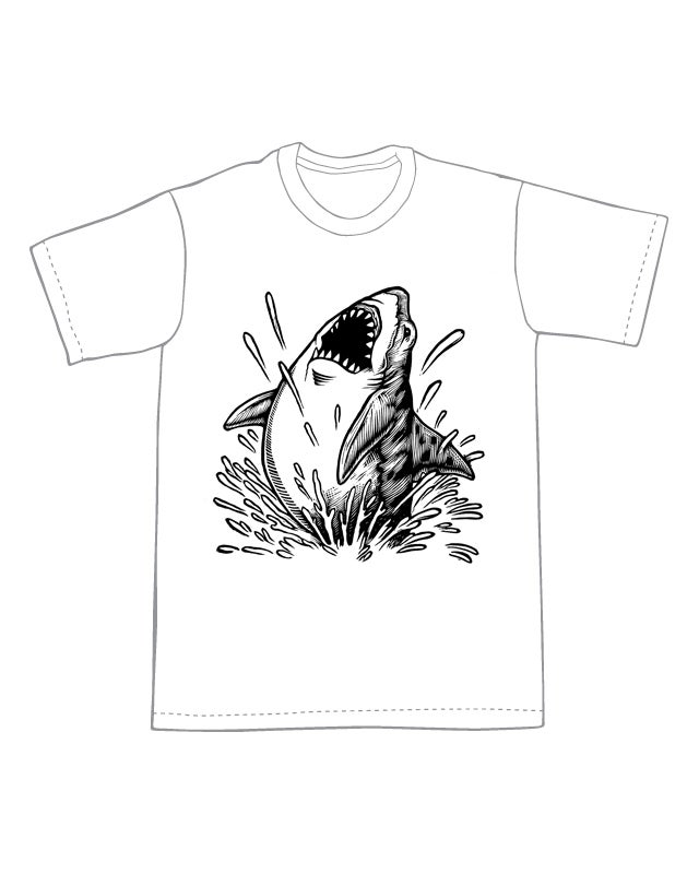 Jumping Shark T-shirt (B1) **FREE SHIPPING**