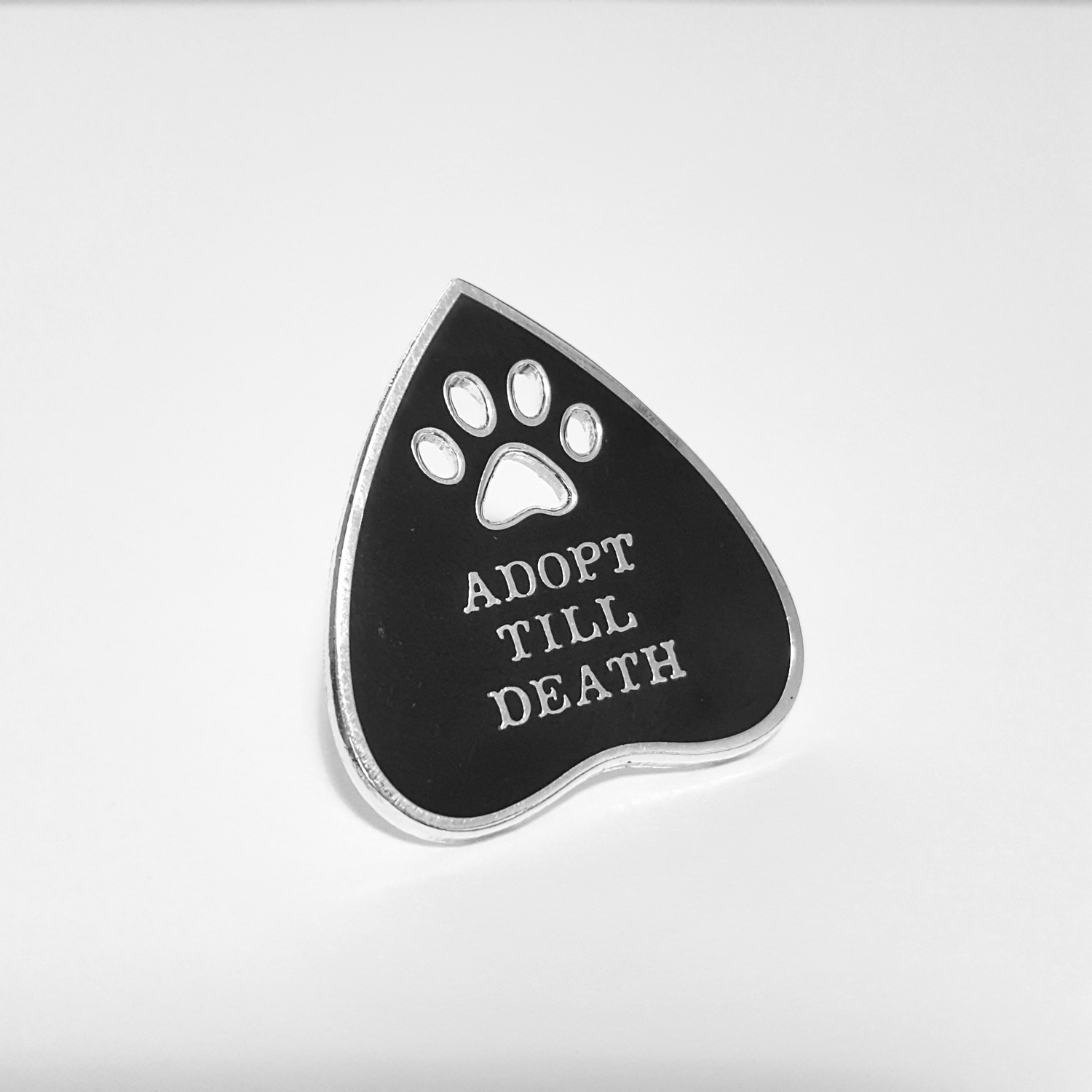 Image of 'Adopt Till Death' Enamel Pin