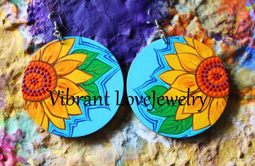 """Image of """"Sunflower"""" Earrings!"""