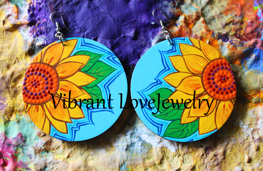 "Image of ""Sunflower"" Earrings!"