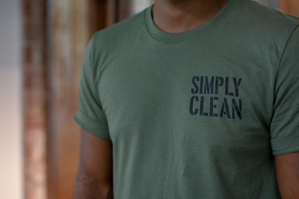 "Image of Unisex ""Military"" Tee... Military Green/Black"