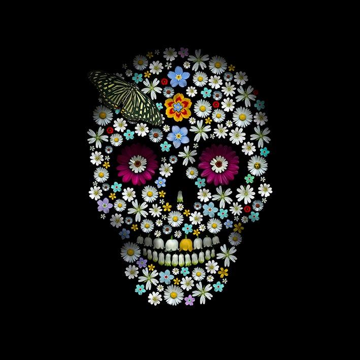 Image of Under The Sage's Gaze - Flower Skull