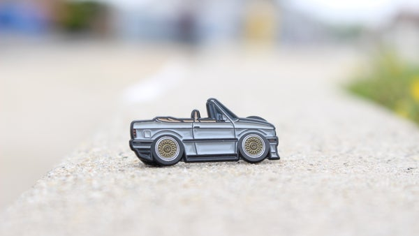 Image of Limited Silver E30 Vert Pin by Leen Customs