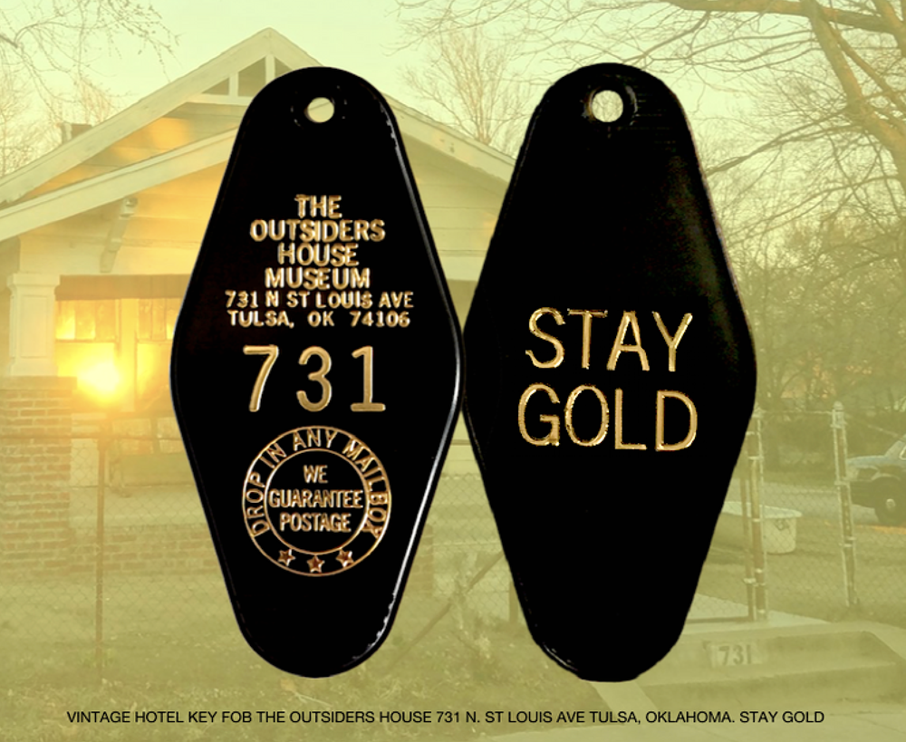 "Image of The Outsiders House Museum Vintage Hotel ""731"" Key Tag"