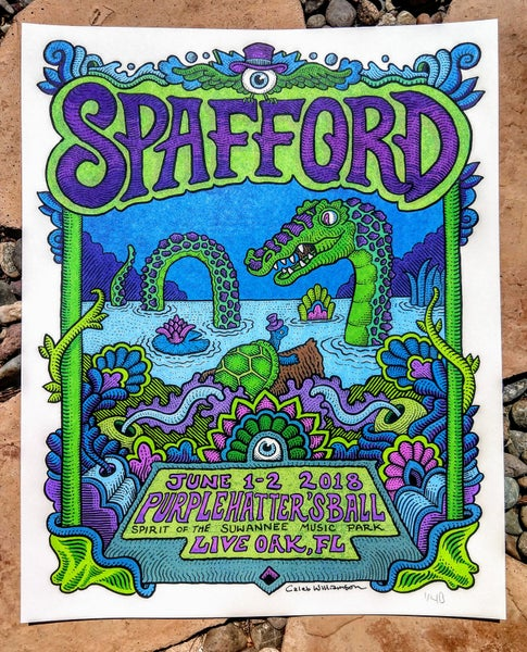 Image of Spafford Purple Hatters Ball Print June  1-2 2018