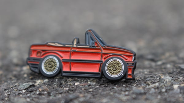 Image of Limited Red E30 Vert Pin by Leen Customs