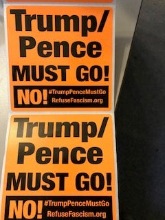 Image of Orange NO! Sticker- can be bought in different amounts