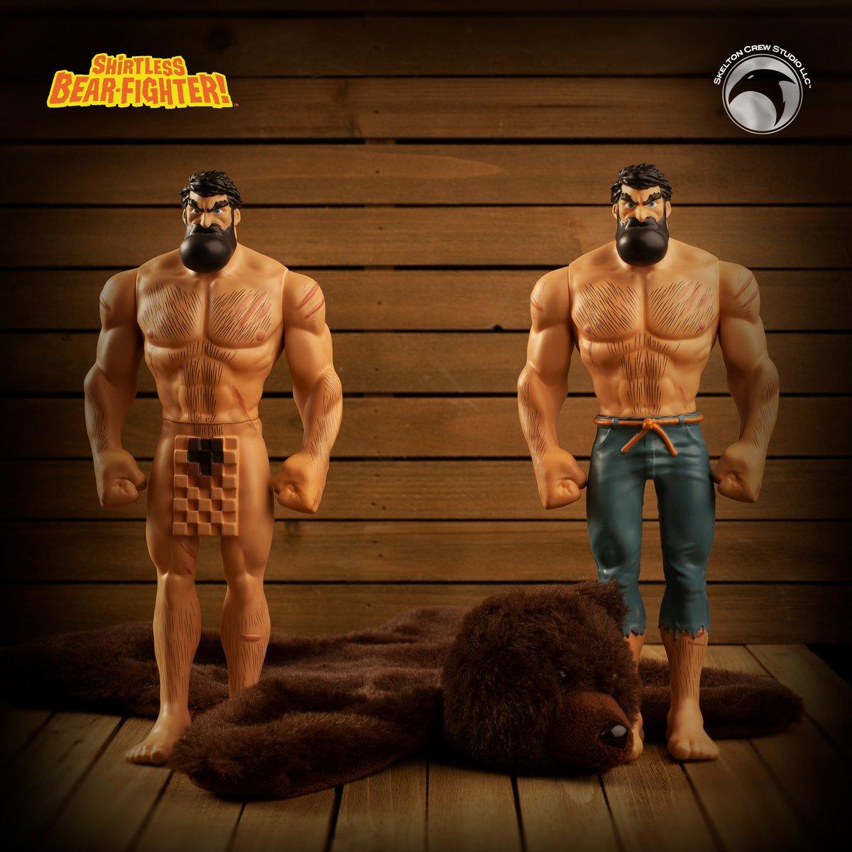Skelton Crew Studio Shirtless Bear Fighter Limited