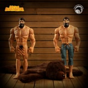 Image of Shirtless Bear-Fighter: SIGNED Limited Edition Vinyl Two-Pack w/BONUS Bear Rug! LESS THAN 10 LEFT!