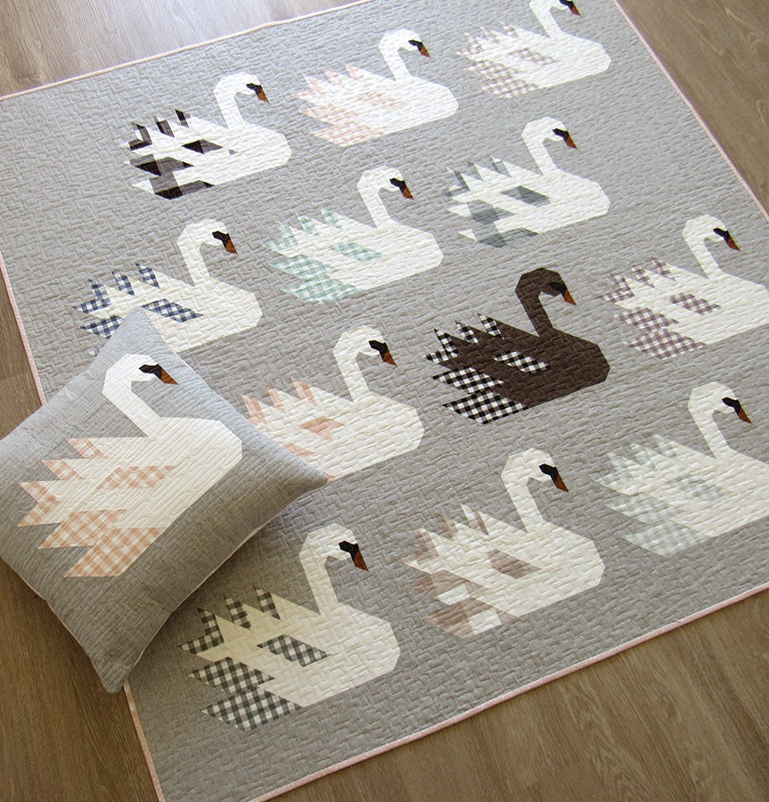 Image of SWAN ISLAND pdf quilt and pillow pattern