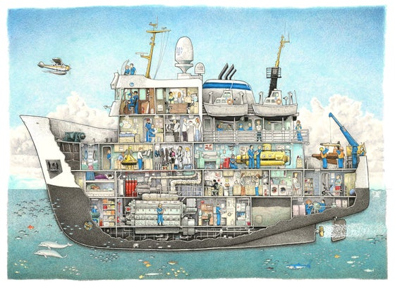 "Image of Research Ship No. 1 22"" X 17"""
