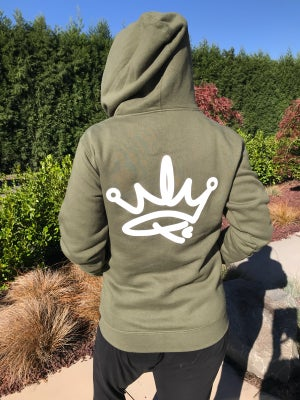 Image of ADULT HOODIE ARMY GREEN