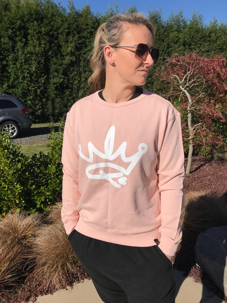 Image of QUEENS CREW SWEATER- PINK