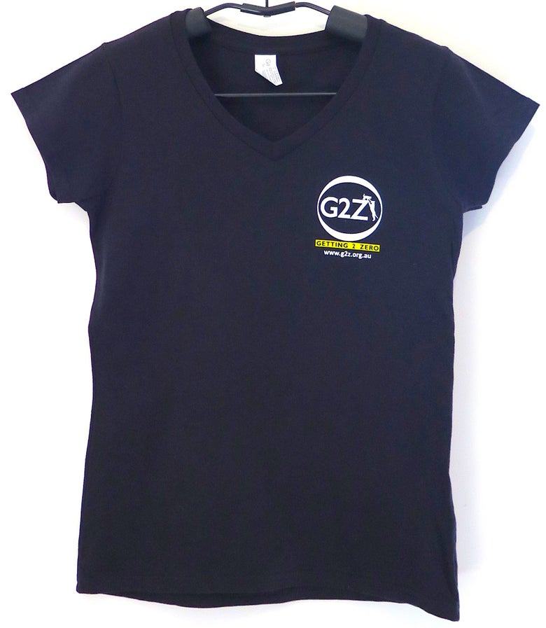 Image of G2Z Black  Womens T-shirt V-neck