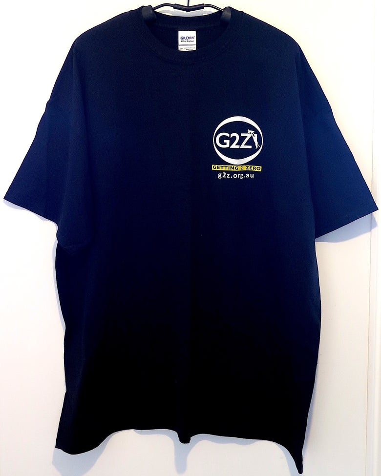 Image of G2Z Black Mens T-shirt Crew Neck