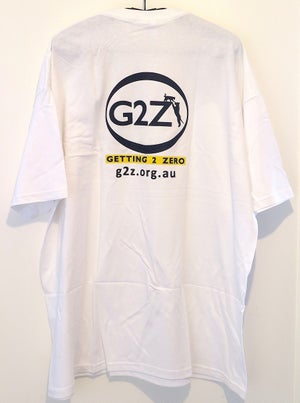 Image of G2Z White Mens T-shirt  Crew Neck