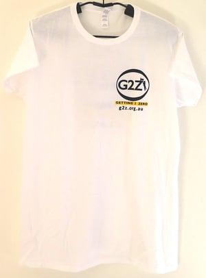 Image of G2Z White Womens T-shirt Crew Neck