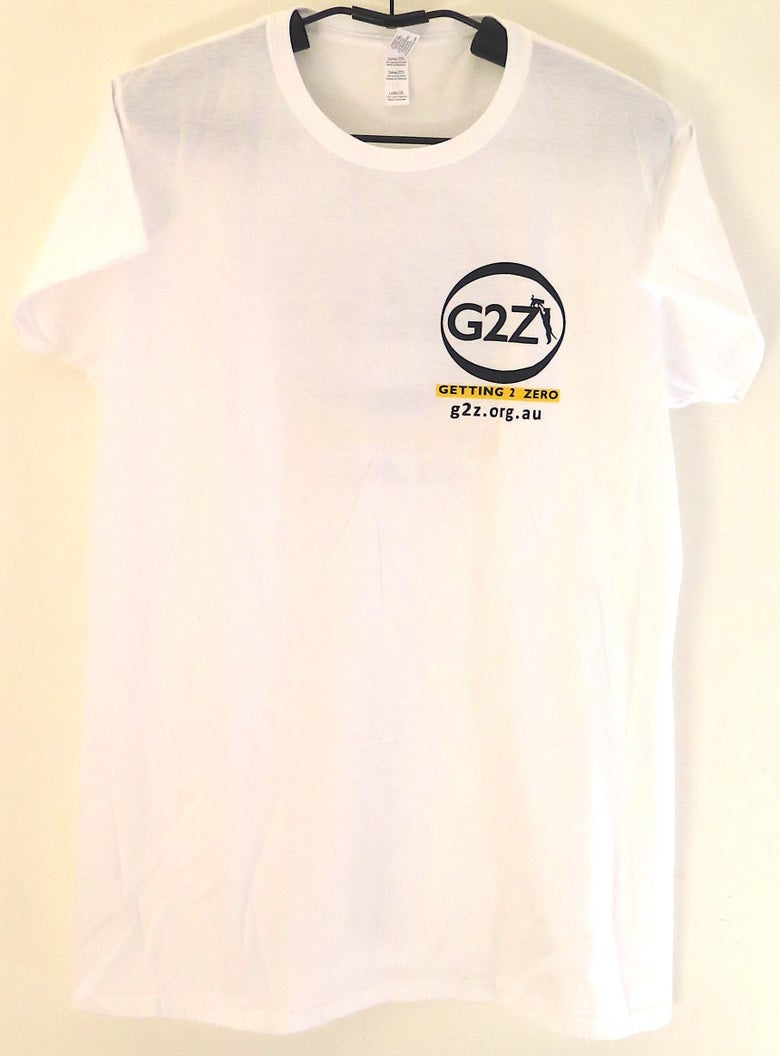 Image of G2Z White Womens T-shirt Crew Neck