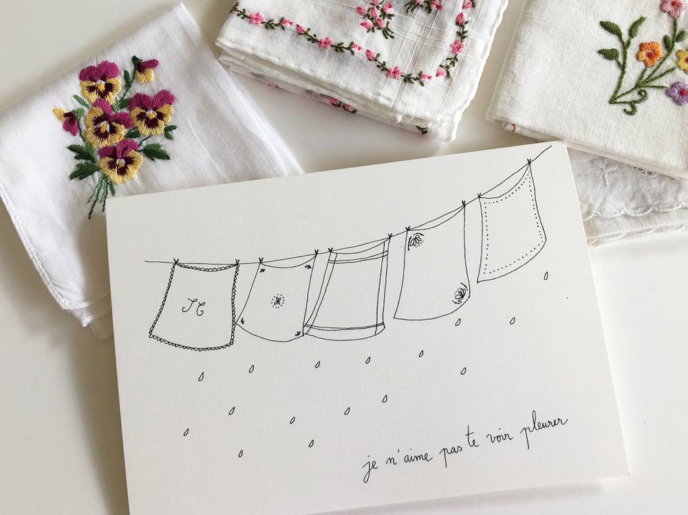 Image of Carte pour sécher tes larmes.....