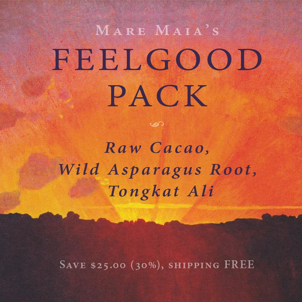 Image of FEELGOOD Pack: Raw Cacao, Wild Asparagus Root, Tongkat Ali