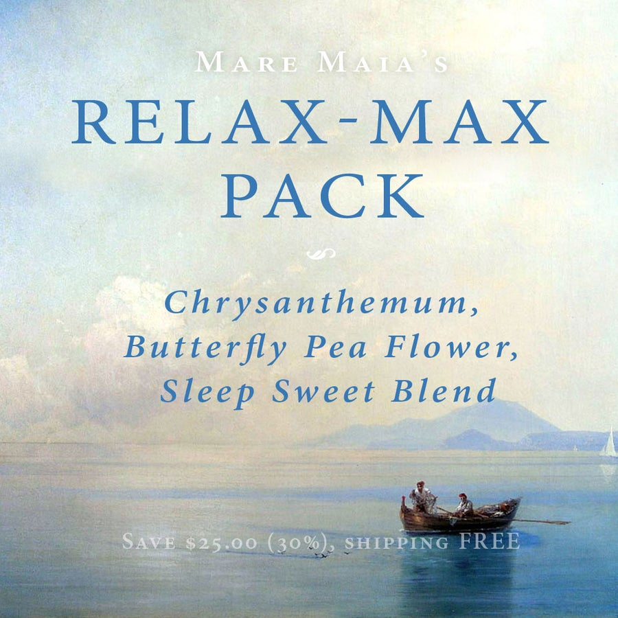 Image of RELAX-MAX Pack: Chrysanthemum, Butterfly Pea Flower, Sleep Sweet Blend