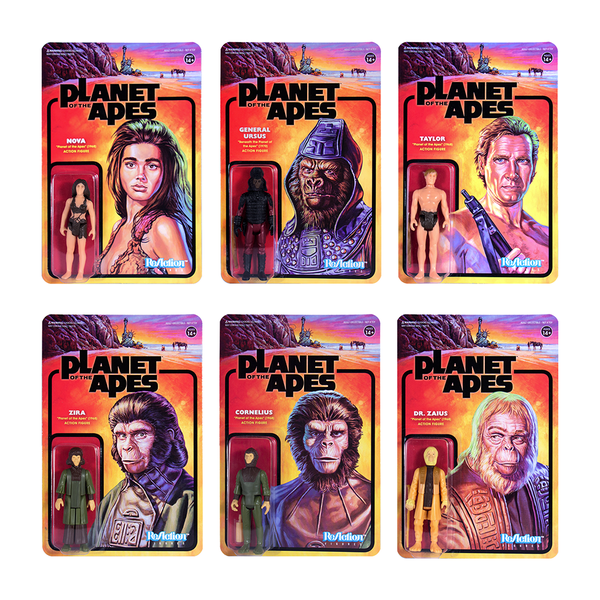 Image of Planet of the Apes ReAction Figure - Full Set