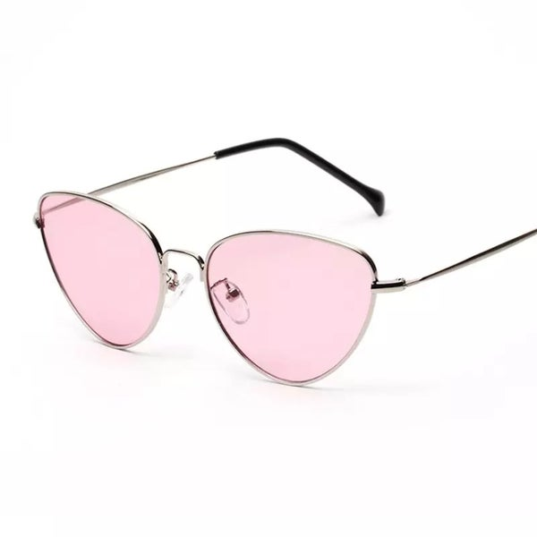 Image of Retro cat eye tinted sunglasses
