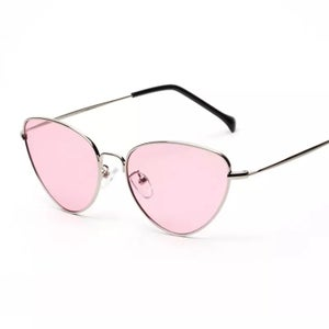 Image of Retro cat eye tinted sunglasses