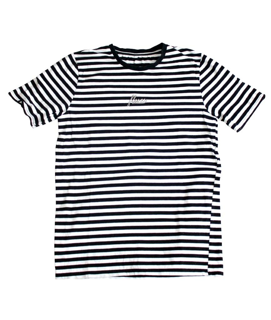 Image of Striped Shortsleeve T-Shirt - Black