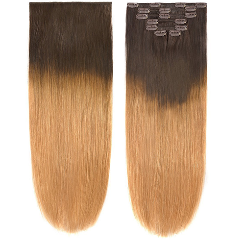 Image of Stright Brazilian Ombre Black/Blonde #27 ClipIns