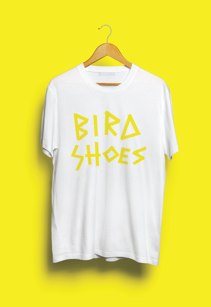 Image of Bird Shoes Tape T-shirt - White