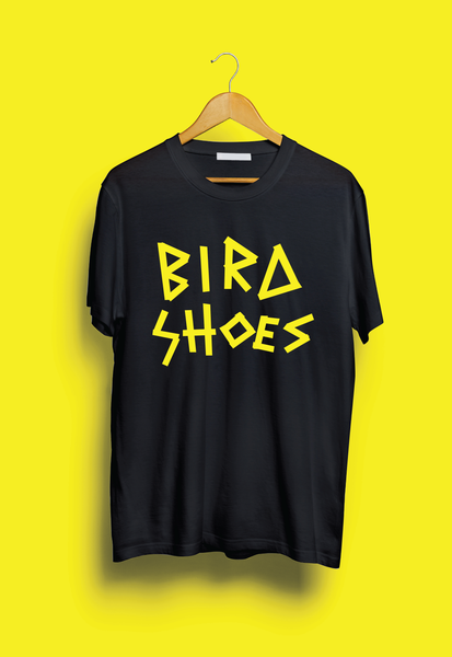 Image of Bird Shoes Tape T-shirt - Black