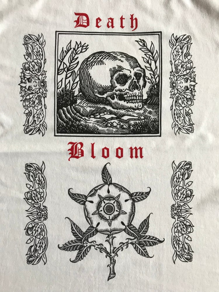 Image of Death bloom shirt. (White)