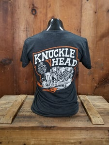 Image of Women's Knucklehead Kansas Kamakura Blue Groove & Lawrence Vintage Cycle Collaboration Ladies Shirt
