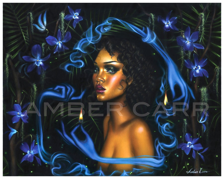 "Image of ""Night Orchid"" 8"" x 10"" print"