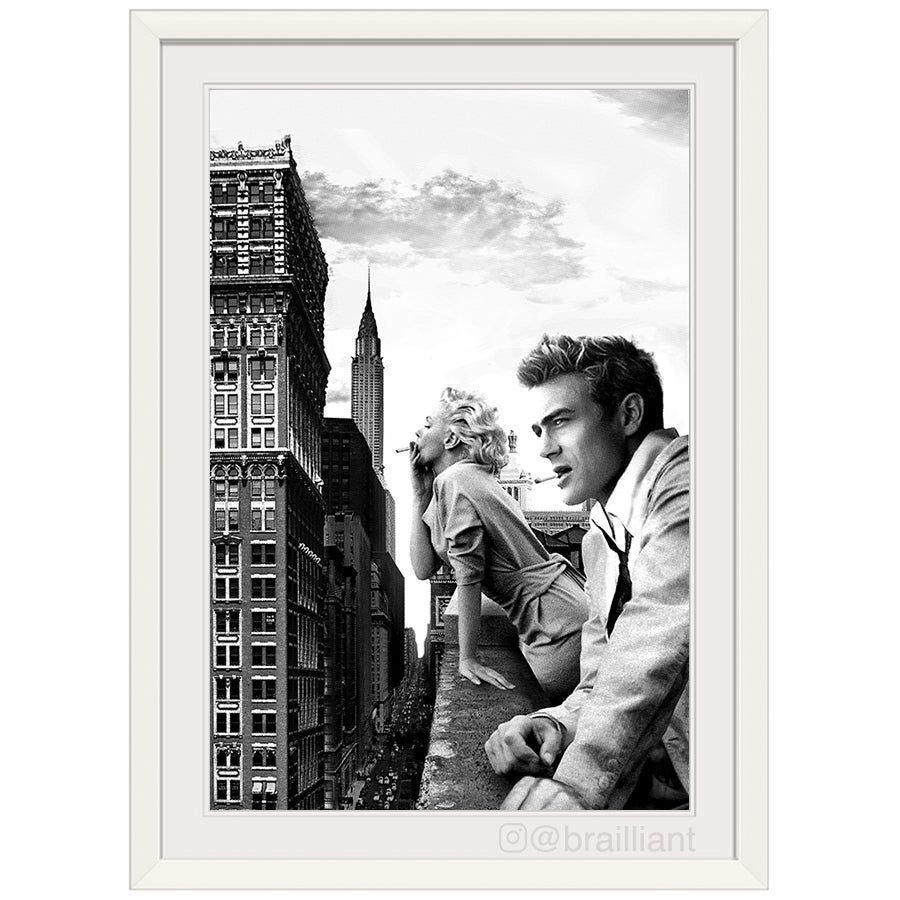 Image of James Dean + Marilyn Monroe, NYC Wall Art. ©2014