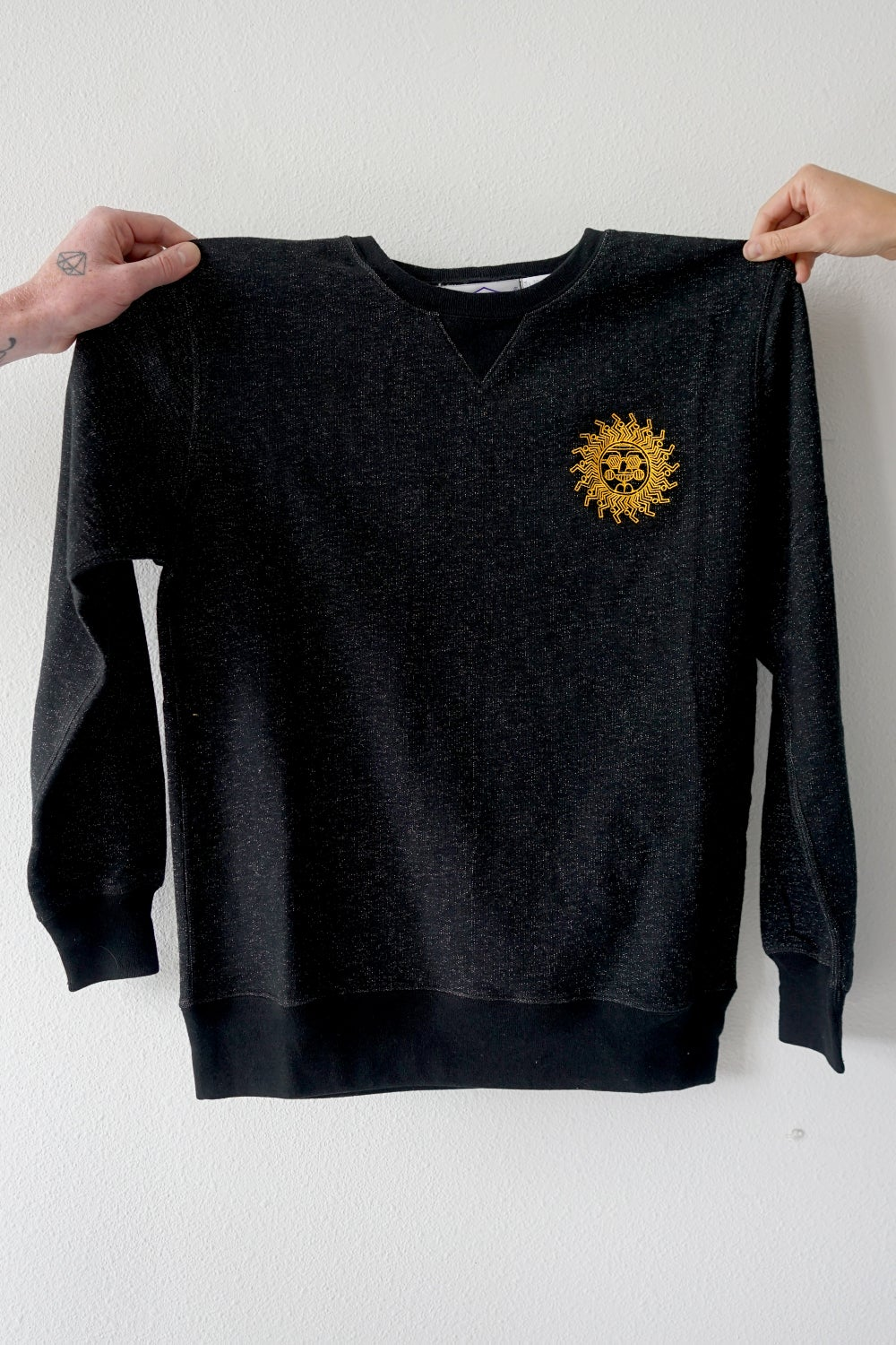 Image of Sun Sweatshirt in Black
