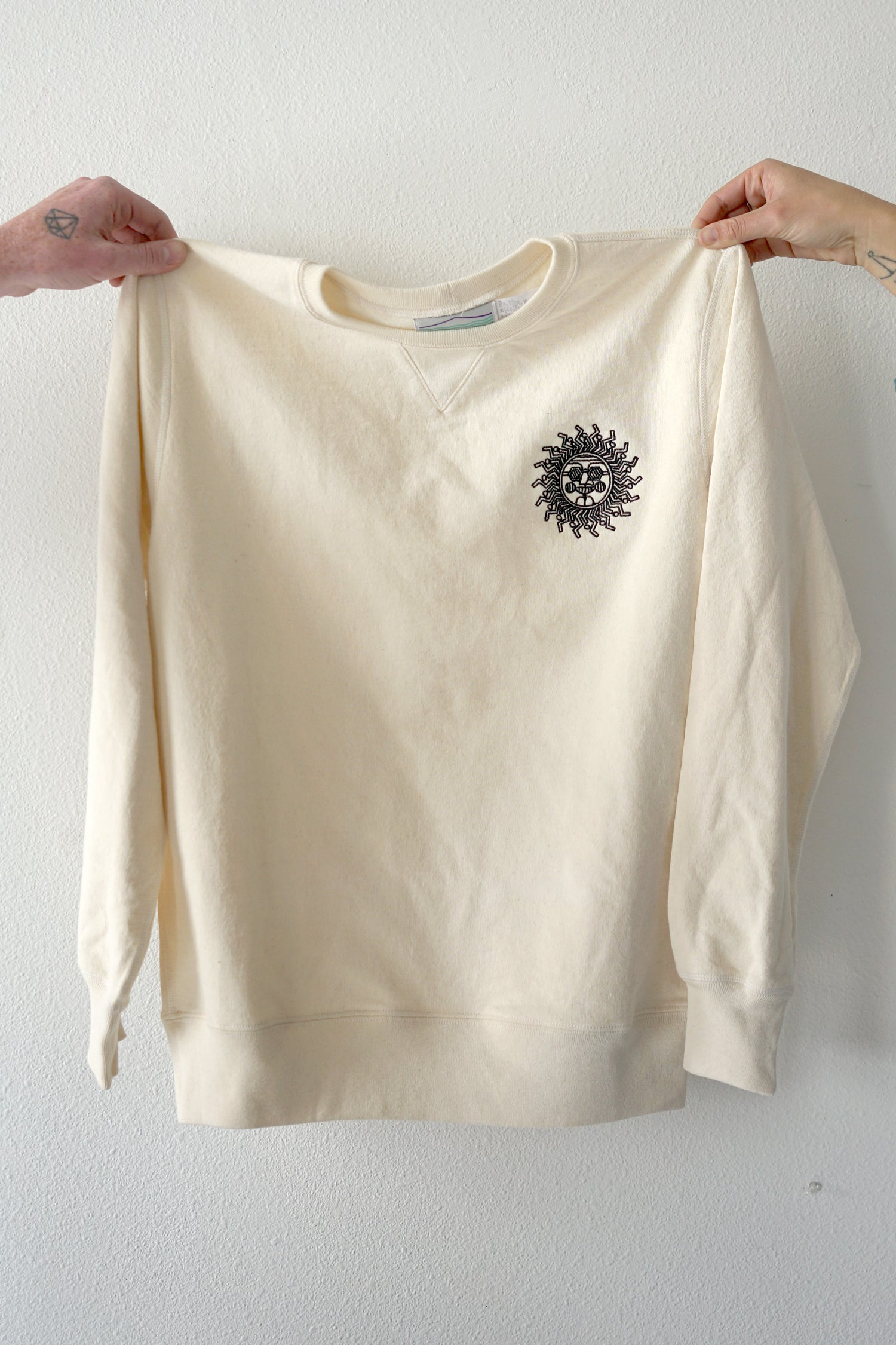 Image of Sun Sweatshirt in Off-white
