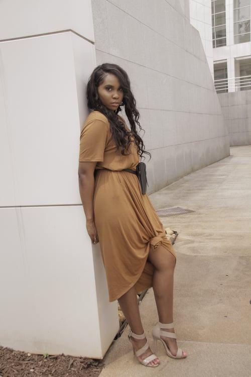 Image of free flow boho dress