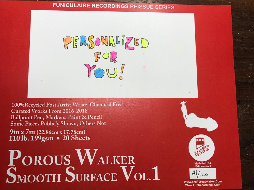Image of PRE ORDER Porous Walker Smooth Surface book Vol. 1