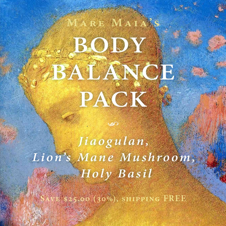 Image of BODY BALANCE Pack: Jiaogulan, Lion's Mane Mushroom, Holy Basil