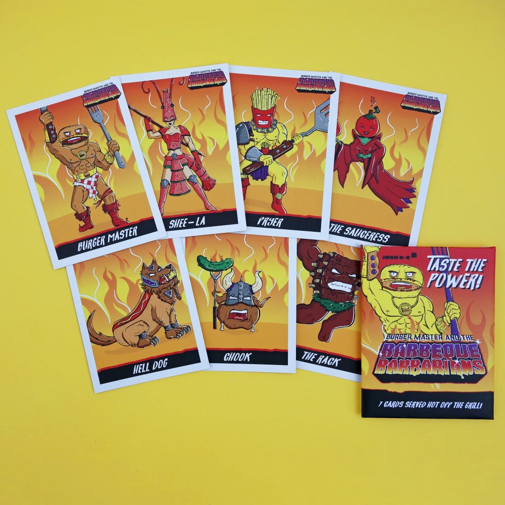 Image of Barbeque Barbarians - Trading Cards