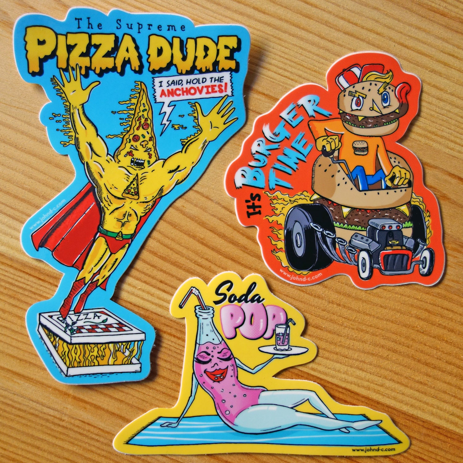 Image of Fast Food Friends Sticker Set