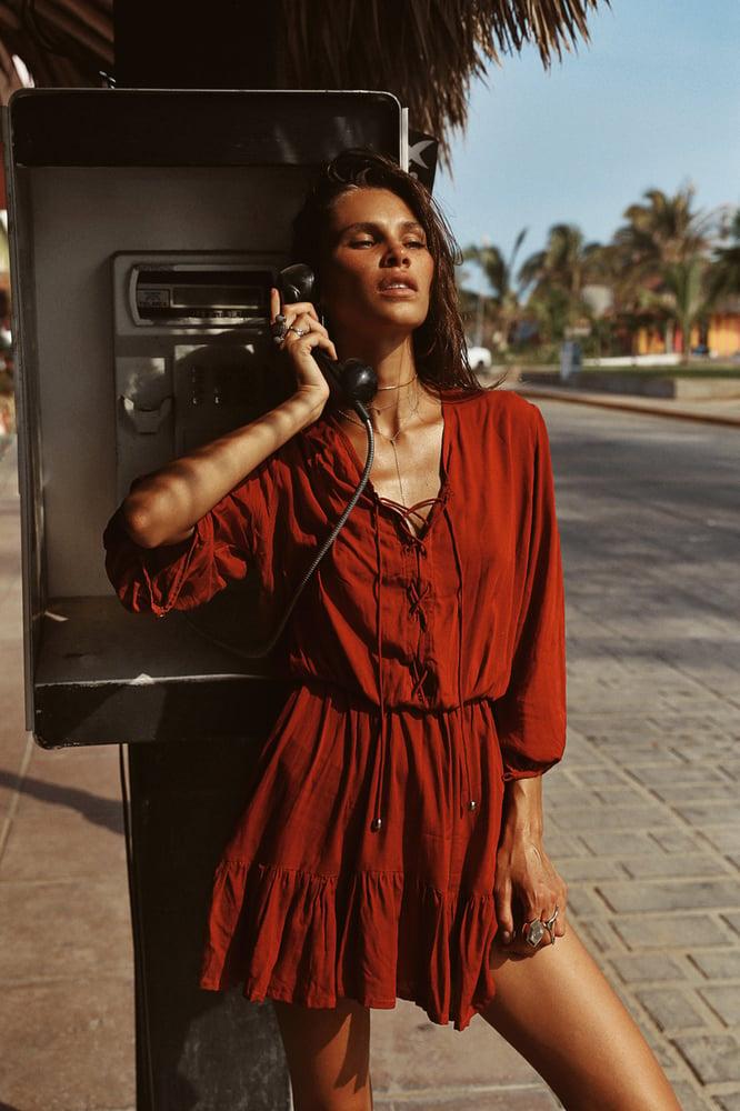 Image of CASITAS DRESS - Merlot