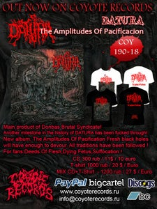 Image of DATURA	The Amplitudes Of Pacificacion CD+T-shirt NEW !!!